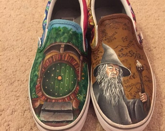 The Lord of the rings custom Vans