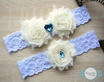 Wedding Garter, Lace Garter, Light Blue Garter, Something Blue, Garter, Wedding Garter Set, Blue Wedding Garter, Rhinestone Garter, Garters