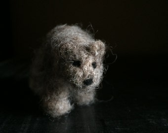 Henry, the needle felted Bear