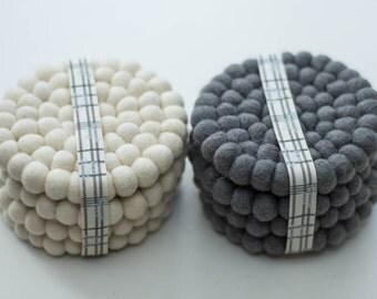 Grey Felt Coasters