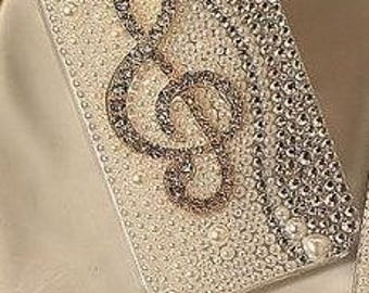Custom Bling Fashion Musical, Crystal Phone Case, Custom Cell Phone Case, Bling Case, Custom Gift Ideas, FREE SHIPPING