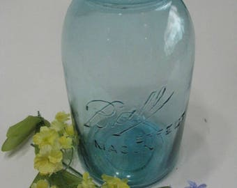 Antique Ball Perfect Mason Canning Jar. 1/2 Gallon, 1910-1923. number 1
