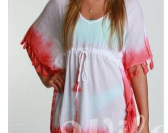 Ladies Dip Dyed Cover Up