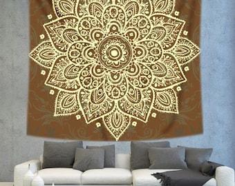 Mandala wall tapestry, mandala art wall hanging, wall decor tapestry, bohemian wall tapestry