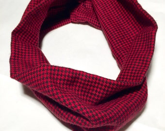 Flannel inifity baby scarf