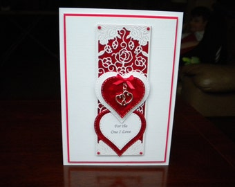 For the One I Love Birthday Card/Handmade/Personalised