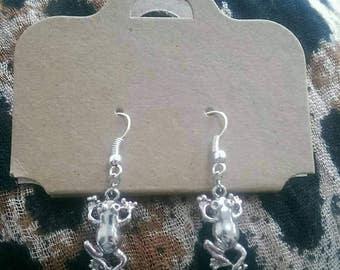 Frog drop earrings