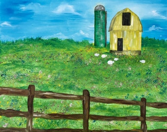 Sheep Farm in Spring