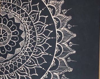 Beautiful hand painted Mandala on a canvas - Decor piece