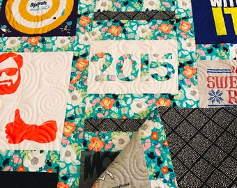 T-Shirt Memory Quilt Grid Pattern