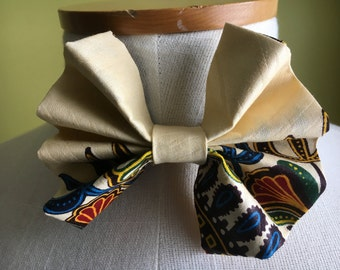 Gentlemen Ankara Bow Tie, Men's Bow-tie,African Men's Fashion, African Bow Tie, Gift for Men