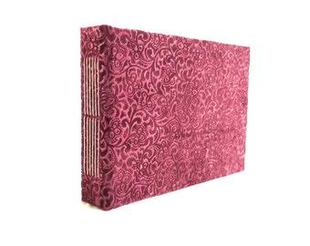 Longstitch handbound notebook, photo album, illustration sketchbook size A5 (22x16 cm, 8x6 inch)