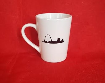 Saint Louis skyline coffee mug