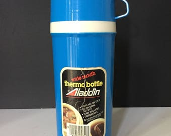 Vintage Aladdin Wide Mouth Thermos - Blue
