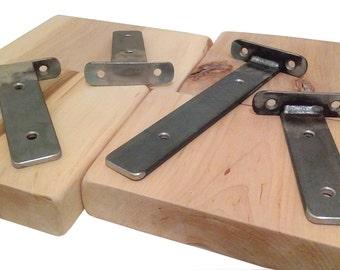 Various Sizes - Industrial Shelf Bracket - Floating/Solid Steel/Rustic/Vintage