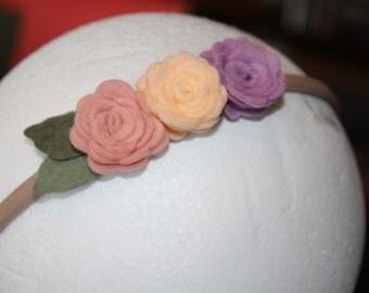 Felt Flower Headband || Hair accessorie || Baby girl || Baby shower || Wedding headband || Photo prop || Gift for baby girl ||