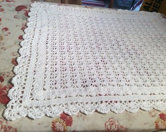 Baby Afghan in White
