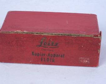 Original LEITZ red box for ELDIA Kopier-Apparat