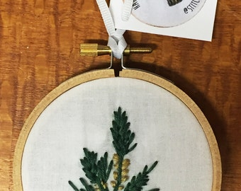 Embroidered Pine Wall Hanging