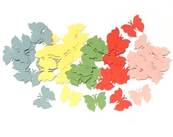 Rainbow Paper Butterflies confetti paper punch, for party, paper craft, scrapbooking or card making.