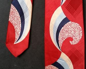 Vintage 1940's Wide Abstract Necktie