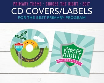 CD Covers, Primary Program, Singing Time, Primary Theme, Choose the Right, Printable, Bulletin Board, LDS 2017, Printables