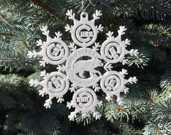 Chicago Cubs World Series Snowflake Ornament