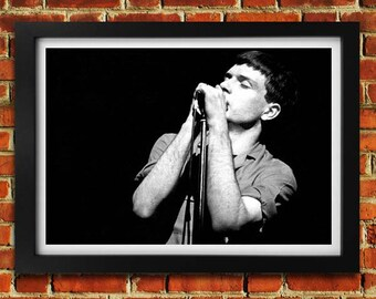 Ian Curtis Joy Division photographic art print framed black and white picture