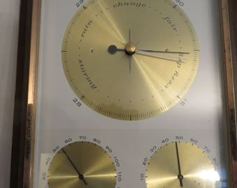 Vintage Weather Station, Barometer Temperature and Humidity
