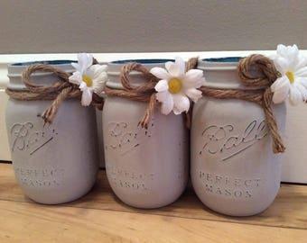 Set of 3 Pint Mason Jars