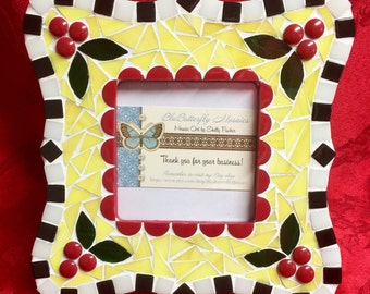 Cherries Jubilee Mosaic Picture Frame