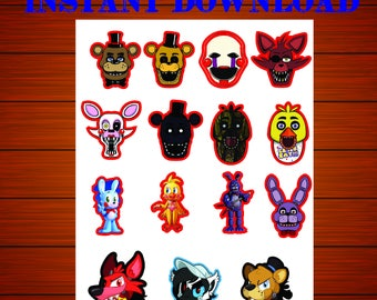 Five Nights at Freddy's cupcake toppers, Five Nights at Freddy's cupcake, Five Nights at Freddy's centerpieces, FNAF cupcake toppers, FNAF