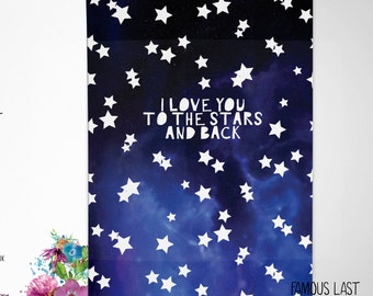 I love you to the stars and back - Birthday / Anniversary / Valentine's Card