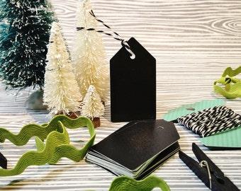 Christmas Gift Tag-Chalkboard Tag, Christmas Gift Wrap, Holiday Tags, Chalkboard Gift Tag, DIY Tag, Secret Santa, Stocking Stuffer,Set of 20