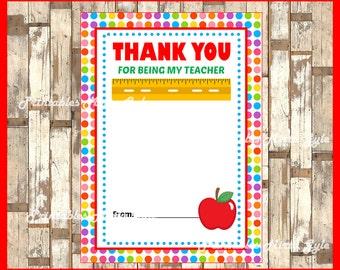 Printable Gift Card Holder  instant download , Printable Teacher Appreciation cards, Printable Teacher Appreciation Card Holder