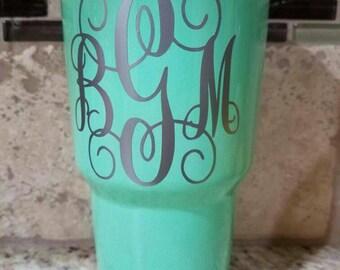 SALE*** Seafoam green/Teal/mint green YETI cup 30 oz, Tumbler. Powder Coated Yeti.