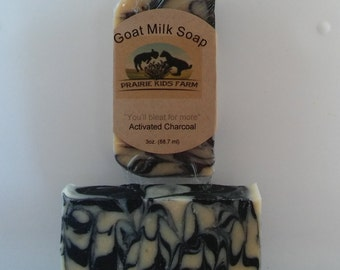 Activated Charcoal Goat Milk Soap