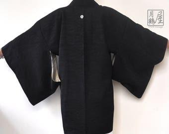 Black Kimono Haori/Japanese Kimono Jacket/Vintage Short Kimono Robe/Kimono Cardigan/Kimono Fabric/Boho/Bohemian/Blazer/Free Size
