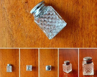 Antique glass salt dispenser/shaker for your table, from 1950s Sweden