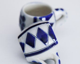 Two Hand Made Pottery Mini Cups
