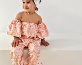 SALE, Pink romper, girl romper, girl clothes, girl outfit, girl clothing, red outfit, off shoulder outfit, off shoulder romper, SALE