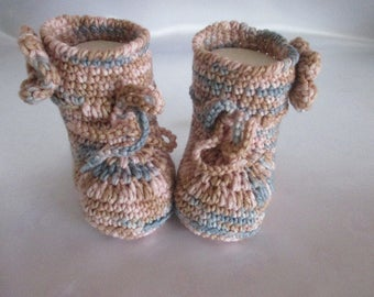 Baby booties of booties handmade pure Merino approx. 11 cm foot or about Gr. 17/18