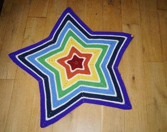 Rainbow Babywearing Star Blanket