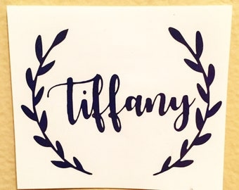 First Name Decal | Arrows | Yeti Cup Decal | Name Sticker | Name Yeti Decal | First Name Tribal Sticker | Car Decal | Personalized Decal |