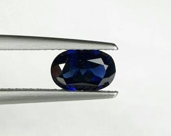 Natural 1.09ct dark blue Sapphire