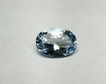 0 73ct 7.1mm x 5mm natural Aquamarine