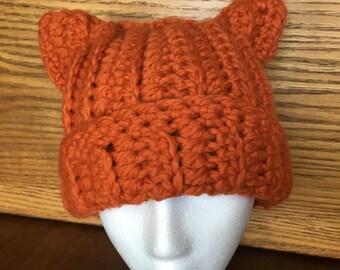 Crochet Cat/Fox Beanie