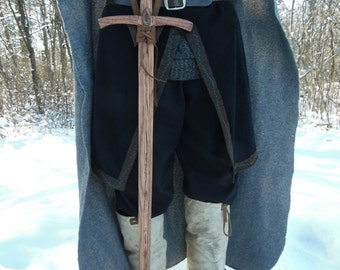 Lake Town sword - handmade wooden sword with genuine leather sword hanger, cosplay sword, Lord of the Rings sword, lotr sword