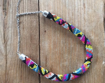Tribal Beaded Rope Necklace