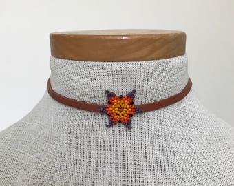 Embera Chami Handmade Flower Choker